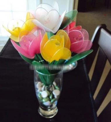 Hoa lụa nghệ thuật – Hoa tulip 2