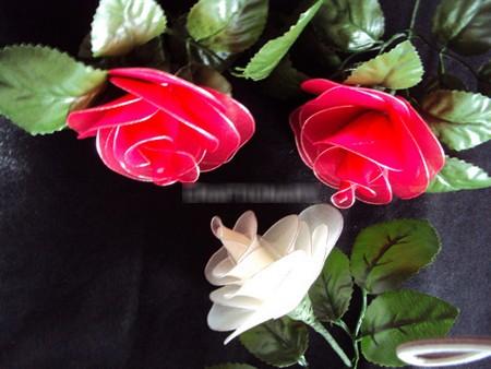 Cách làm hoa lụa: Hoa Hồng 1