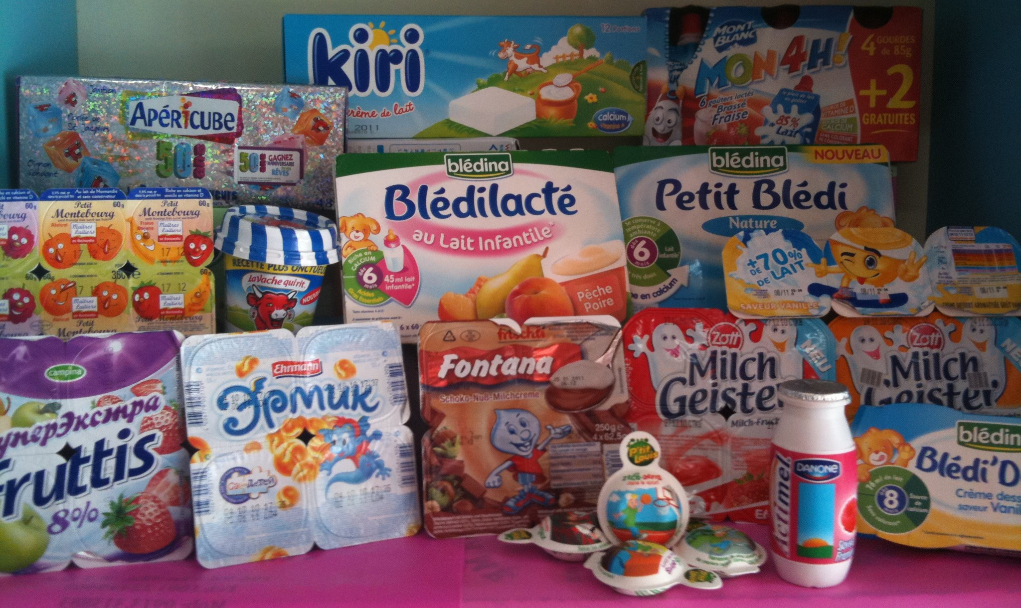 Váng sữa rất đa dạng về thương hiệu, chủng loại