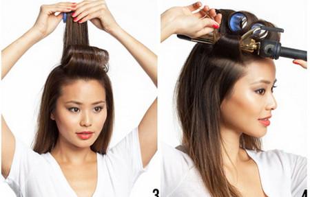 Vài bước đơn giản cho mái tóc bồng sóng 2