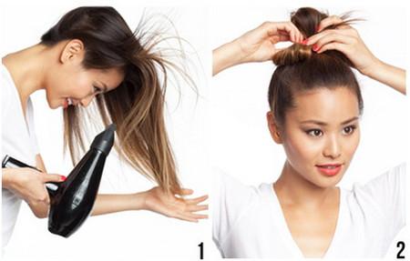 Vài bước đơn giản cho mái tóc bồng sóng 1