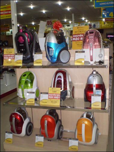 Nên chọn máy có đèn báo nhắc người sử dụng biết động cơ bị bám bụi nhiều để kịp thời làm sạch.