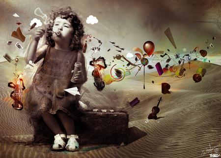 Những câu chuyện tưởng tượng phản ánh hiểu biết của bé về thế giới xung quanh.