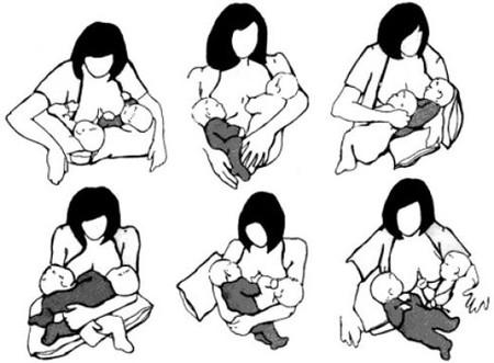 Rất nhiều tư thế để các mẹ bé cho bé bú