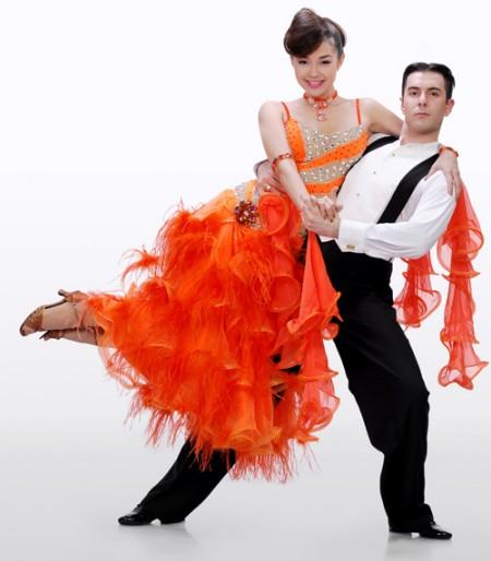 Minh Hằng và bạn nhảy Anatas Georgiev Malamov