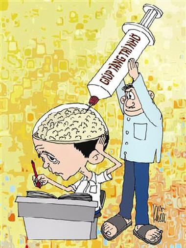 Không ít sĩ tử rối loạn tâm thần khi dùng thuốc tăng cường trí nhớ.