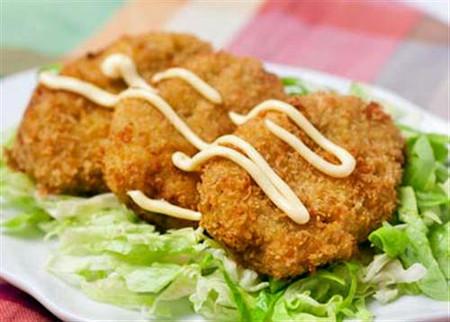 Thực phẩm rán có hàm lượng chất béo cao.