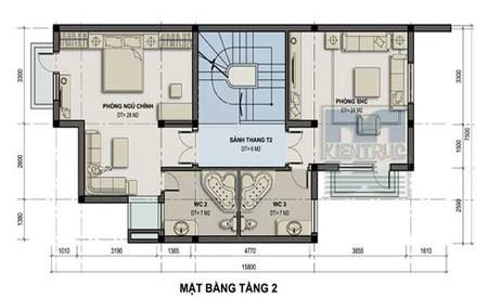 Thiết kế biệt thự nhà vườn 150 m2 cho vùng ngoại thành 2