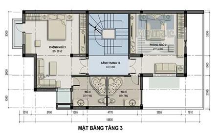 Thiết kế biệt thự nhà vườn 150 m2 cho vùng ngoại thành 3