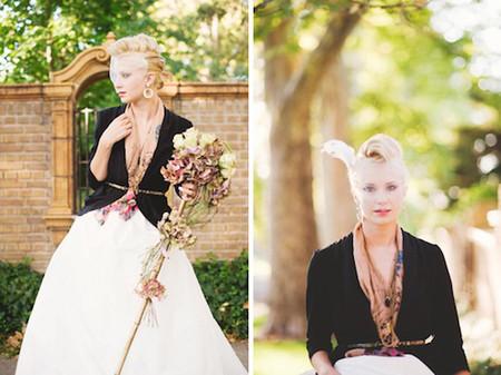 Những kiểu áo khoác nhẹ nhàng cho cô dâu trong tiết thu 4