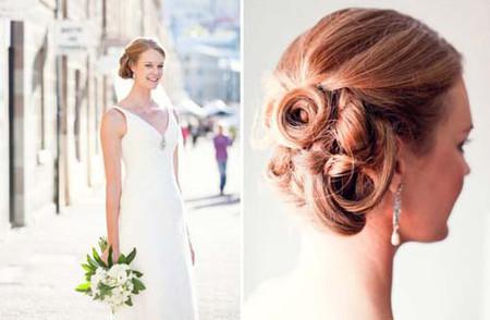 Những kiểu tóc cô dâu mới nhất mùa Thu 2012 2