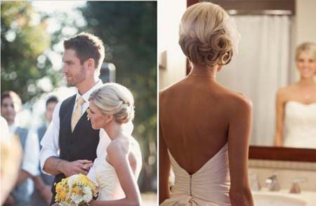Những kiểu tóc cô dâu mới nhất mùa Thu 2012 4