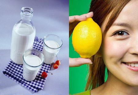 5. Chanh và sữa tươi 1