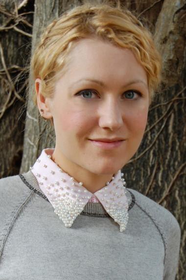 Khéo tay trang trí cổ áo long lanh với cườm 1