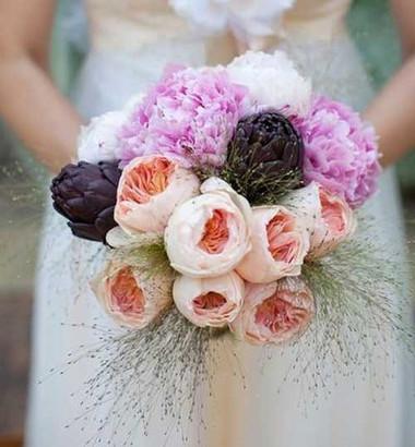 Một số mẫu hoa cưới từ hoa mẫu đơn 14