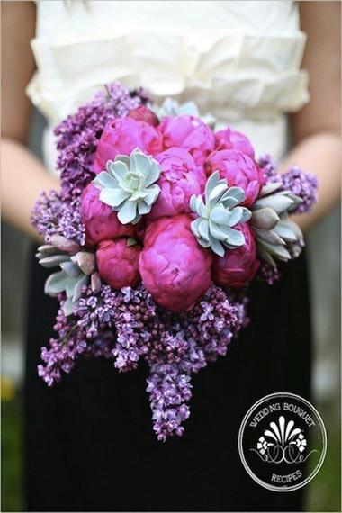 Một số mẫu hoa cưới từ hoa mẫu đơn 2