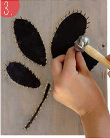 Khéo tay trang trí tường nhà bằng bức tranh len đơn giản mà độc đáo - Nội Trợ - Khéo tay hay làm - Nữ công gia chánh