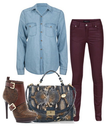 3. Mix với quần jeans màu sắc 2