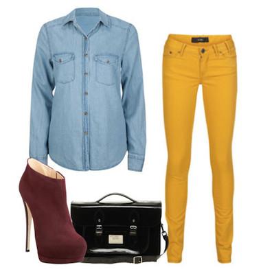 3. Mix với quần jeans màu sắc 3