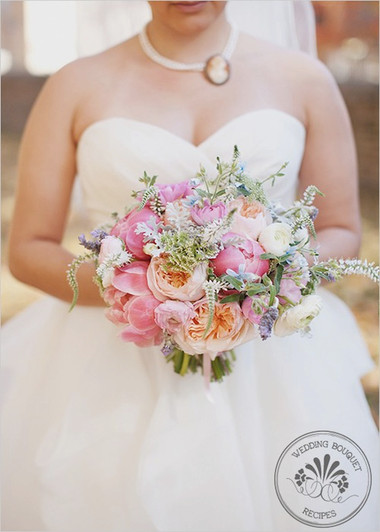 Một số mẫu hoa cưới từ hoa mẫu đơn 5