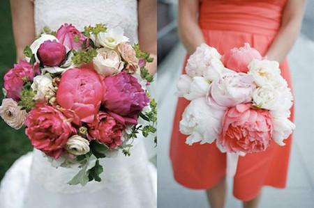 Một số mẫu hoa cưới từ hoa mẫu đơn 7