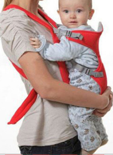 Tuyệt đối không được để vải địu che kín phần đầu của trẻ.