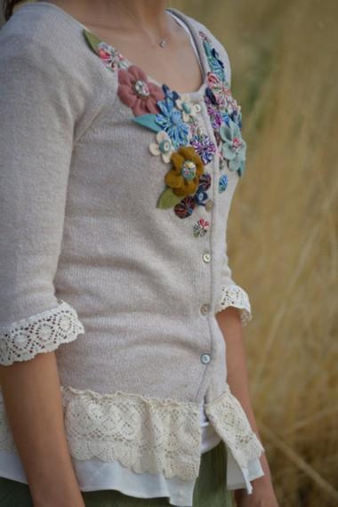 Trang trí lại áo len cũ thêm phần duyên dáng 1