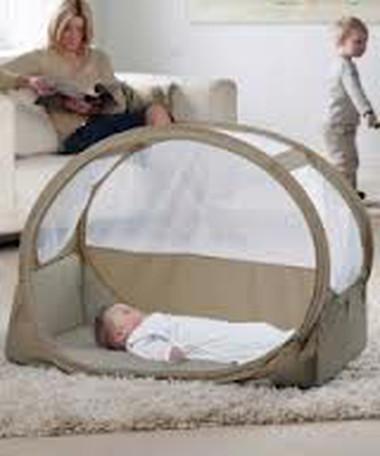 Cảnh giác khi cho trẻ ngủ trong lều ngủ.