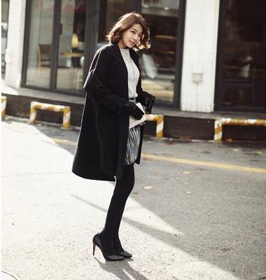 1. Giày mũi nhọn + Tất mỏng + Váy ngắn/Shorts - Nàng công sở thanh lịch 2