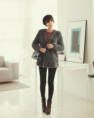 4. Áo lông + Legging/Quần skinny 1