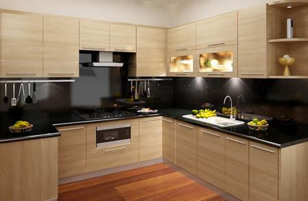 Tủ bếp hình dạng chữ L hoặc chữ U tiện dụng hơn tủ bếp hình dạng một vế dài.