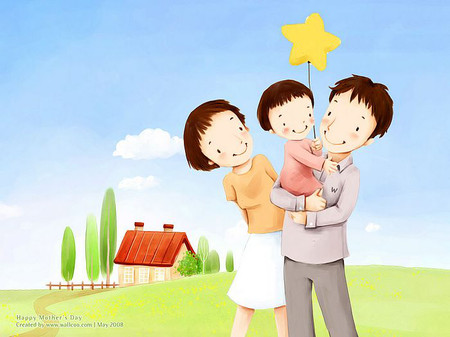 Sóng gió đã qua gia đình ta sẽ hạnh phúc mãi mãi. Con yêu bố Cường, mẹ Xuân của con.