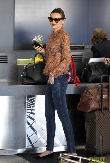 Miranda Kerr is Wildly Beautiful at LAX