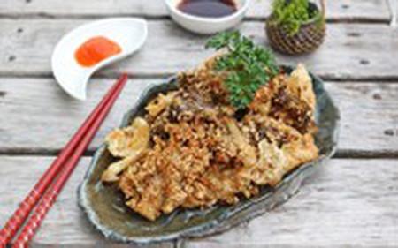 vị bùi của vừng kết hợp cùng vị dai giòn của nấm khiến bạn muốn ăn mãi không thôi.