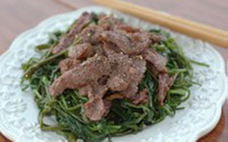 với rau muống kiểu này lại đem đến cho món ăn hương vị rất mới lạ.