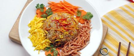 Món ăn vừa đẹp mắt vừa đủ chất dinh dưỡng nên rất đáng để bạn làm thử  cho cả nhà thưởng thức đấy!