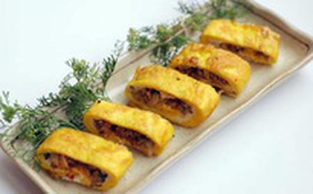 Món trứng chiên kim chi có thể dùng với cơm trắng hay bánh mỳ đều rất tuyệt.