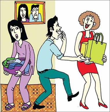 Với vợ thì lơ là trong khi với gái hàng xóm thì anh nhiệt tình giúp đỡ.