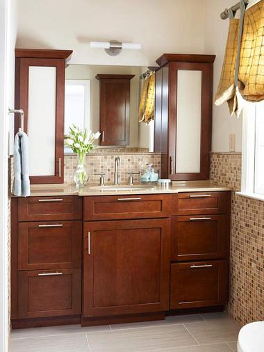 Bí quyết giúp phòng tắm nhỏ luôn gọn gàng, bừng sáng 13