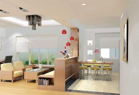 Do diện tích mặt bằng thường không được rộng rãi nên phòng khách trong chung cư thường được thiết kế theo phong cách đơn giản.