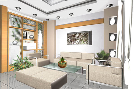 Phòng khách nên sơn màu tươi, tránh những màu sắc tối.