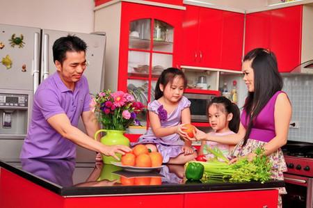 Màu đỏ được coi là gam màu đặc trưng của ngôi nhà.