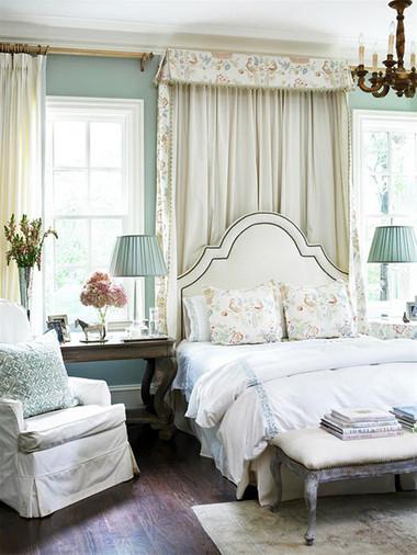 Phòng ngủ của chủ nhà mệnh Mộc nên sử dụng màu xanh.