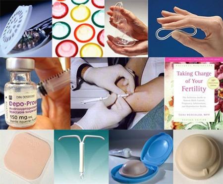 Các biện pháp và dụng cụ để tránh thai.