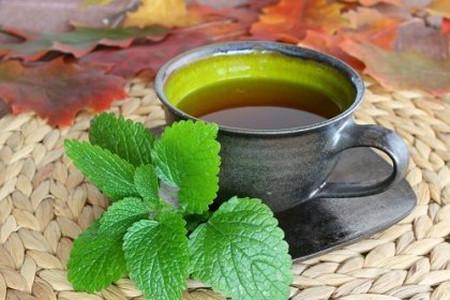 - Uống trà bạc hà trà: 1