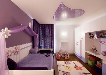 Lãng mạn, ngọt ngào cho phòng ngủ gam màu tím 2
