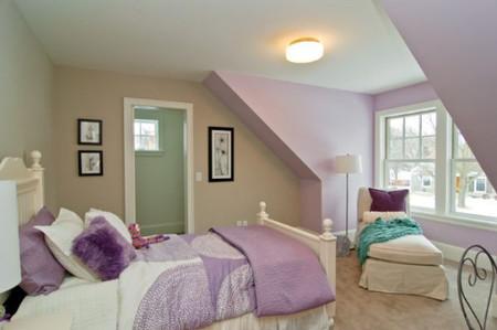 Lãng mạn, ngọt ngào cho phòng ngủ gam màu tím 3