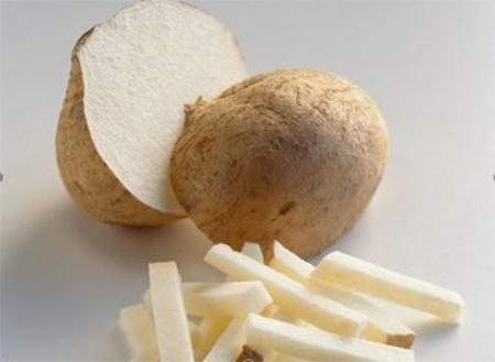 Củ đậu mát, có vị ngọt tự nhiên rất dễ ăn.