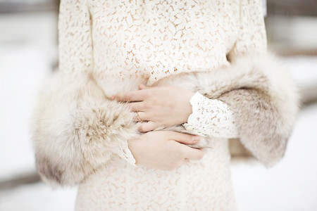 Áo khoác cho cô dâu những ngày rét đậm 1