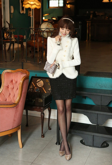 Mẫu áo khoác dạ nữ dáng ngắn đẹp và mốt nhất mùa đông 2013 - 2014  5